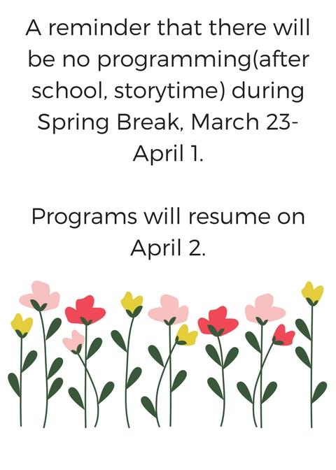 No programming for spring break skip back to main navigation mightylinksfo