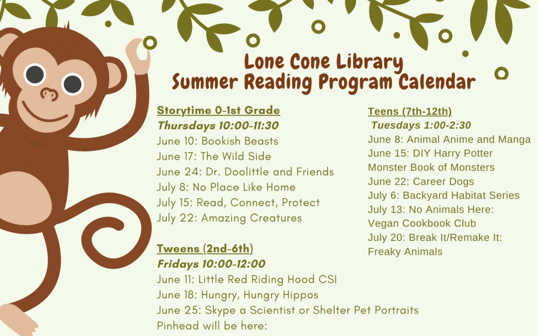 Youth Summer Reading Schedule