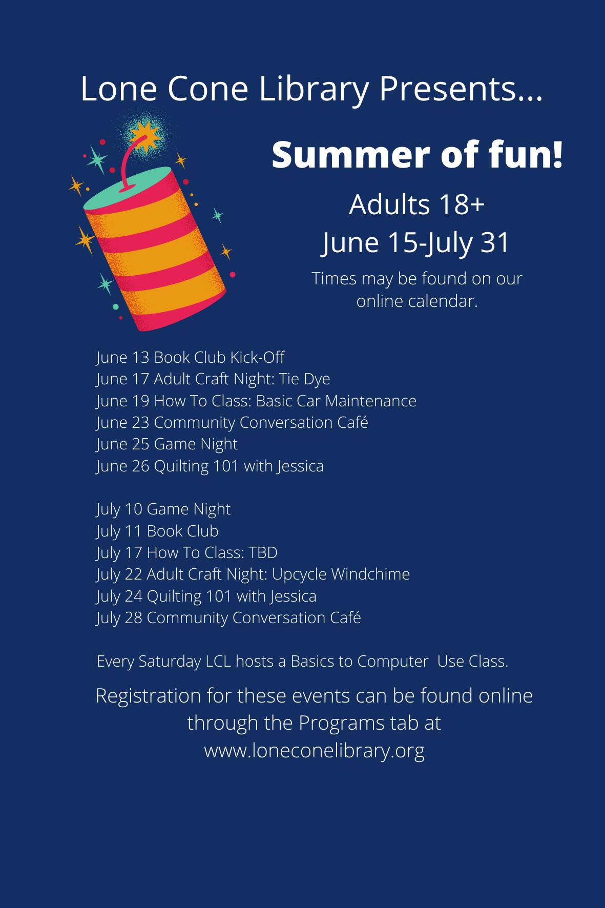 Summer program list